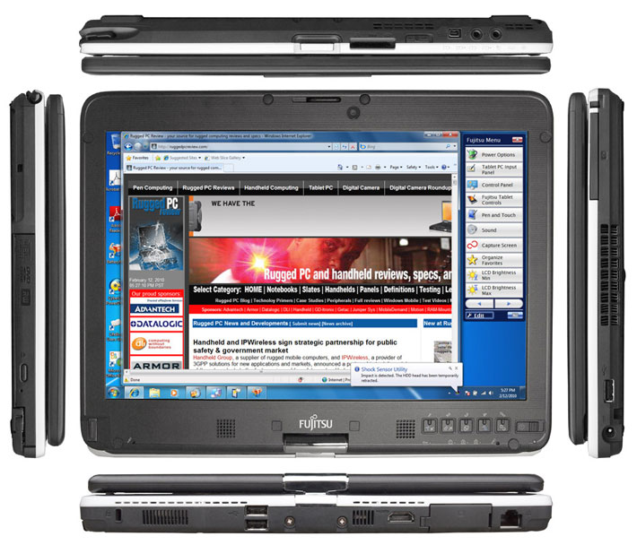 As You Can See In The Composite Image Below Lifebook T4410 Is A Representative Of Convertible Tablet Pc Concept That Its Present Form