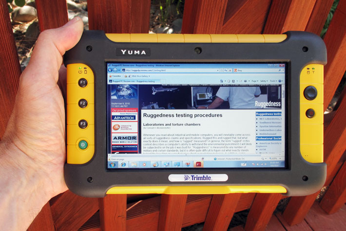 Rugged Pc Review Com Rugged Tablet Pcs Trimble Yuma