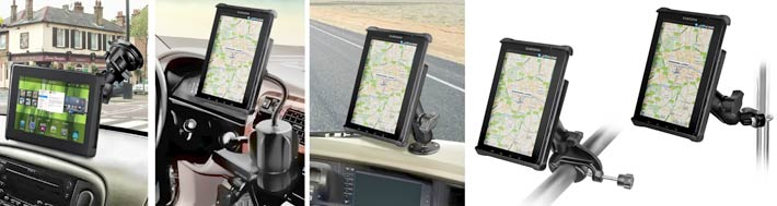 All Original Size iPad Without Case//Sleeve RAM No-Drill Vehicle Seat Tk Mount