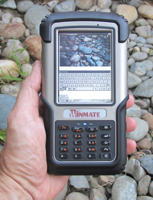 The Winmate Rugged Handheld Like Similar Devices In This Cl Is Much Larger And Heavier Than Any Consumer Smartphone At 7 X 3 9 Inches Its Foot Print