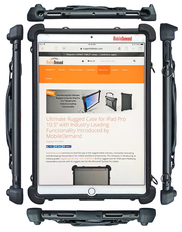 detailed look 6d222 1fa2b MobileDemand Rugged Case for iPad